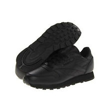 reebok black shoes. reebok classic leather running shoe in black sizes 6.5 to 15 shoes u