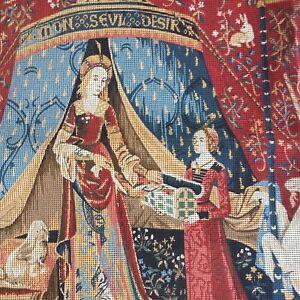 Large-MARGOT-CREATIONS-de-PARIS-Lady-amp-the-Unicorn-Needlepoint-Canvas-Only-47-034