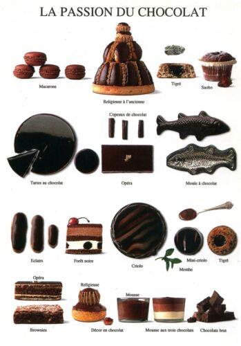 Affiche murale cuisine La Passion du Chocolat  Nouvelles Images  30 cm x 24 cm