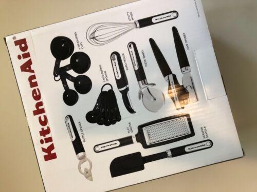 Nouveau KitchenAid Noir 16 Pièce Outil et Gadget Ensemble peut Opener Spatule Cuillère