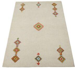 Gabbeh Beige 160X230 cm Teppich 100% Wolle Orientteppich Handgetuftet HT337
