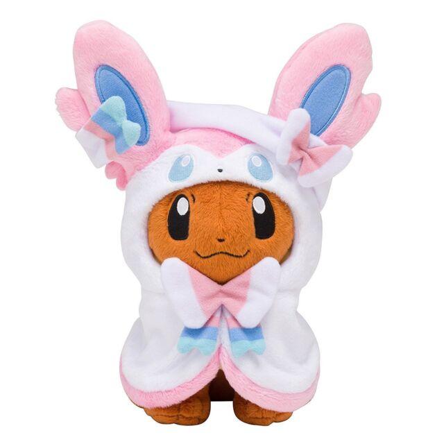 Pokemon Center Eevee Poncho Sylveon Nymphia Stuffed Plush Doll Soft