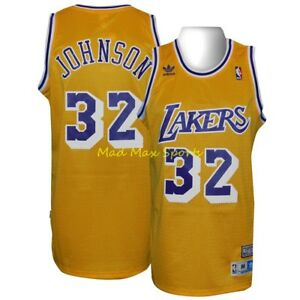 MAGIC JOHNSON Los Angeles LA LAKERS Home Gold HWC Throwback SWINGMAN ... 80ecbff4b