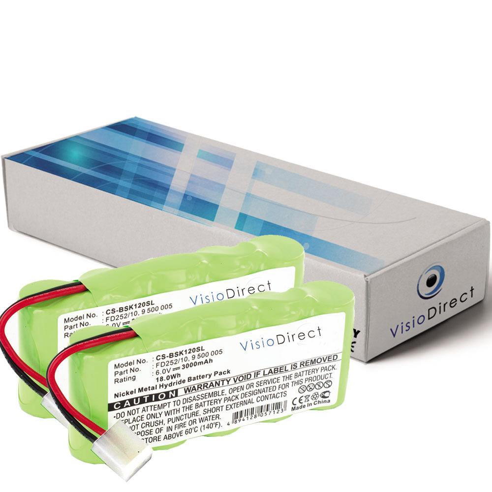 Lot de 2 batteries 6V 2000mAh pour Bosch Somfy K8 - Société Française -