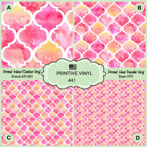 graphic about Printable 651 Vinyl titled Info over Watercolor Moroccan Practice Released HTV, Siser, Oracal 651, Craft Vinyl- 441