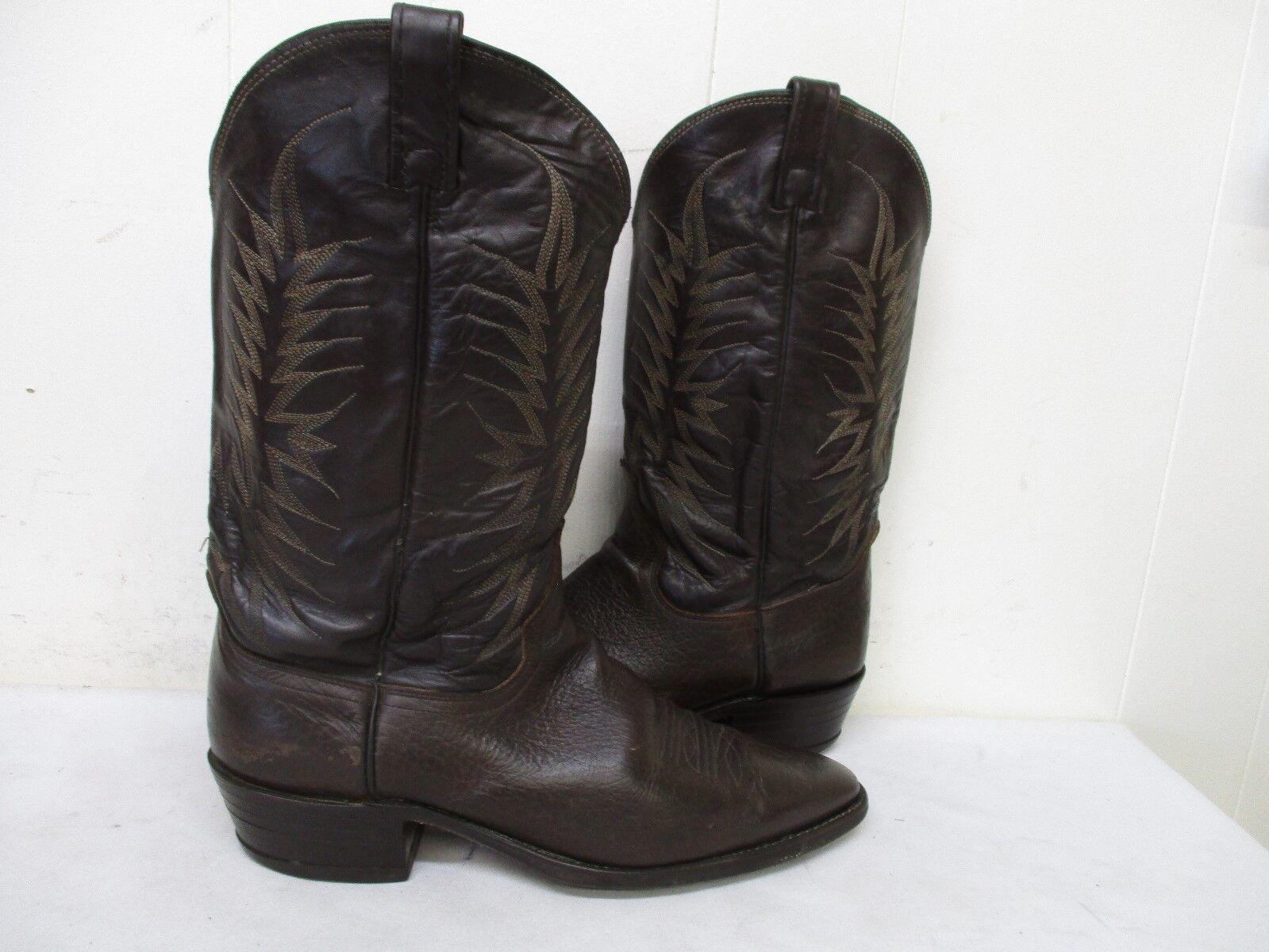 Dan Dan Dan brown bullhide post pelle gli stivali da cowboy Uomo 46 b stile p2559 usa bb6880