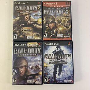 Call-Of-Duty-Finest-Hour-Big-Red-One-World-At-War-amp-3-Bundle-PS2-Playstation-2