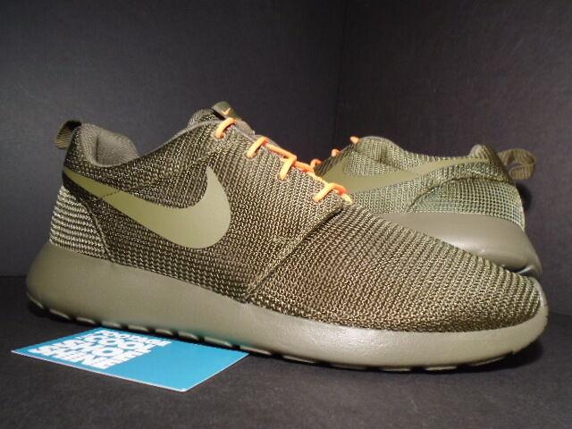 Nike ROSHE RUN ROSHERUN SQUADRON ARMY OLIVE GREEN TOTAL ORANGE 511881-380 DS 8.5