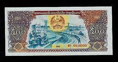 Lao 500 Kip 1988 Hy Pick # 31a Unc.