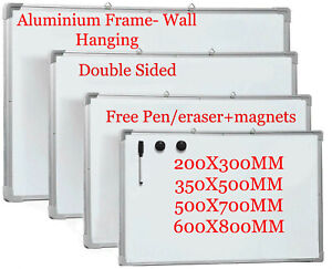 Aluminium-Framed-Whiteboard-Magnetic-White-Board-Double-Sided-Dry-Wipe-Notice