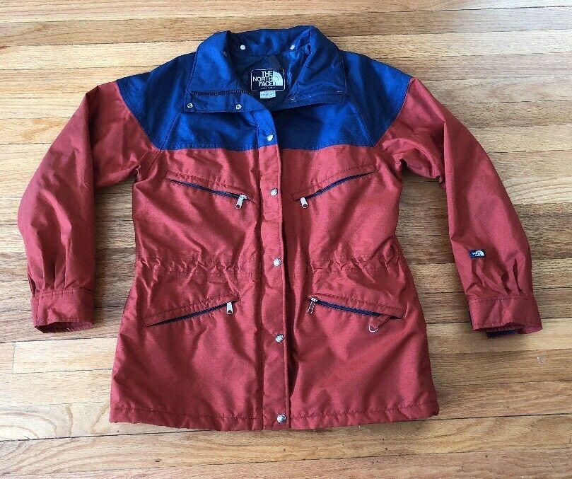 Vintage 80s The North marrón Label GORE  TEX PARKA Face Chaqueta de abrigo mujer grandes  entrega rápida