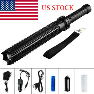 US-Stock-LED-tactical-Baseball-Bat-Flashlight-Car-Security-and-Self-DefenseTorch