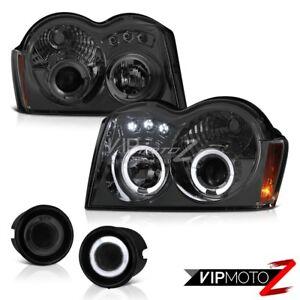 For-05-07-Jeep-Grand-Cherokee-Ahumado-Luz-Antiniebla-Proyector-Faro-LED-Dual