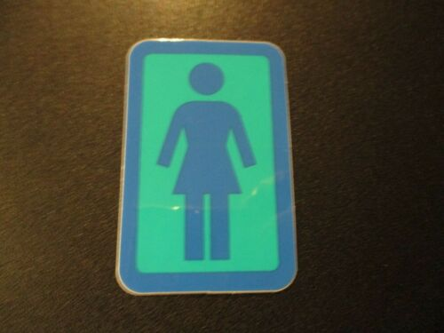 "GIRL SKATEBOARDS Blue Green Classic logo Skate Sticker 1.5X2/"" helmets decal"