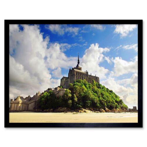 Mont Saint Michel France Normandy 12X16 Inch Framed Art Print