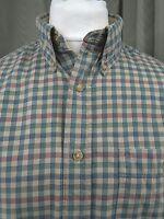 Orvis 100% Cotton Button Down Collar Check Shirt - Large