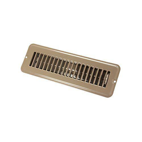 Jr Products 02-28915 2In X 10In Floor Register Dampered Metal Brown