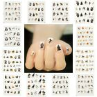 4Sheets Claw Pumpkin Skull Halloween Witch Nail Art Water Decal Transfer Sticker