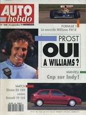 AUTO HEBDO n°848 du 23 Septembre 1992 ZX 16V R19 16S MITSUBISHI 3000 GT