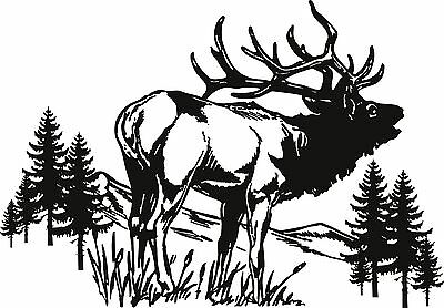 "Elk Wildlife Decal 13/"" x 4/""  1 Decal"