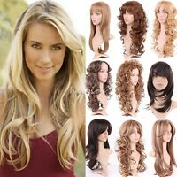 Free Ship Long Full Head Wigs Dark Brown Blonde Highlight Hair Real As Remy 026s