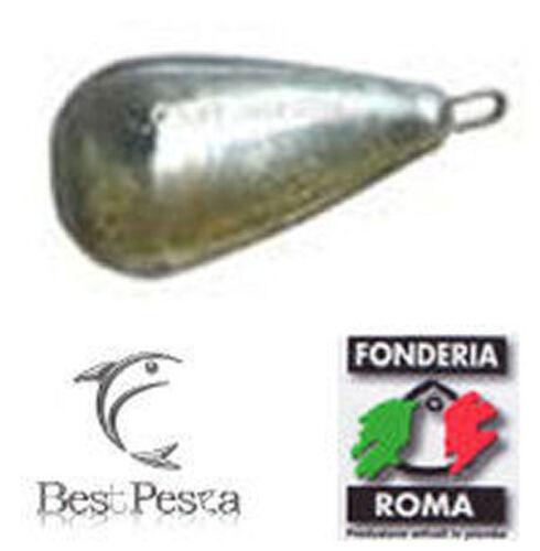 150gr Fonderia Roma Piombo PERA anello inox