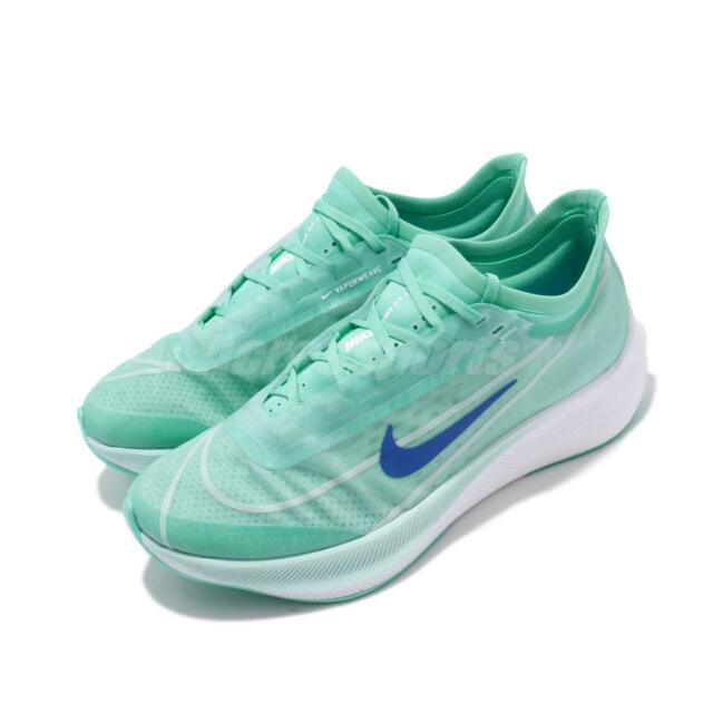 wholesale dealer e25ea 078db Nike Wmns Zoom Fly 3 III Aurora Green White Blue Women Running Shoes  AT8241-300