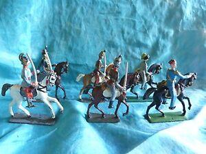 Lot-de-6-cavaliers-divers-premiere-guerre-mondiale-demi-ronde-bosse