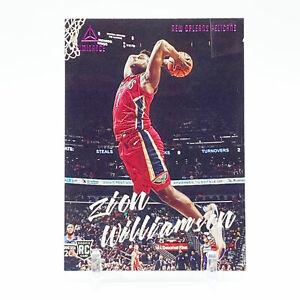 2019-20 Panini Chronicles Luminance Basketball Pink Zion Williamson Rookie