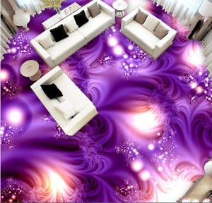 3D Purple Light Pattern 44 Floor WallPaper Murals Wall Print Decal AJ WALLPAPER