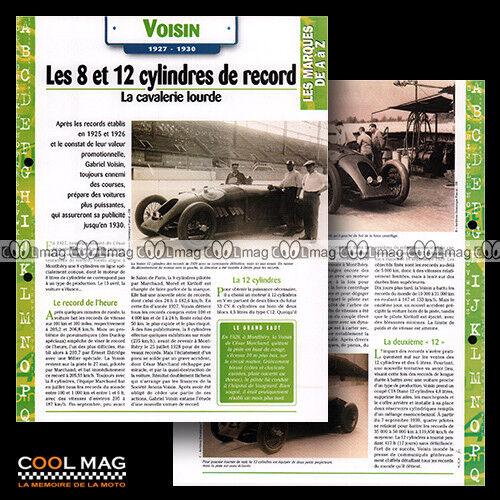#hvf.16.04.a VOISIN STORY 1927-1930 Photo RECORD 1929 Car Fiche Auto