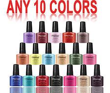 10 Vernis à ongle semi permanent Gel UV Manucure nail soak off maquillag gros