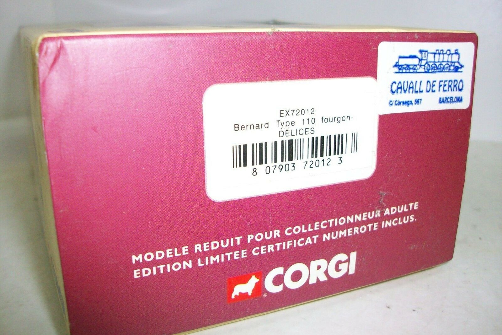 CORGI EX72012 - BERNARD TYPE -DELICES- 110 FOURGON -DELICES- TYPE (EDIC. LIMITADA) 5d919b