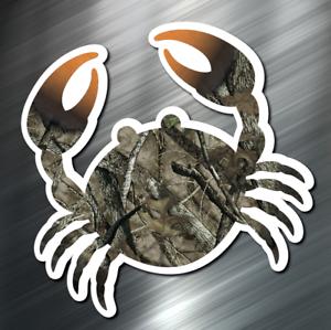 ONE Camo Crab Decal Sticker Car Boating Boat Ocean Beach Scuba Surf Fish New 1