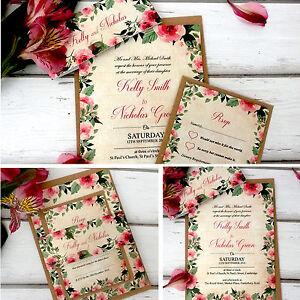 Wedding-Invitations-Personalised-amp-Evening-Invites-Handmade-Floral-Vintage