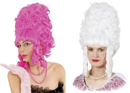 Womens 18th Century Panto Dame Ugly Sisters Pompadour Fancy Dress Beehive Wigs