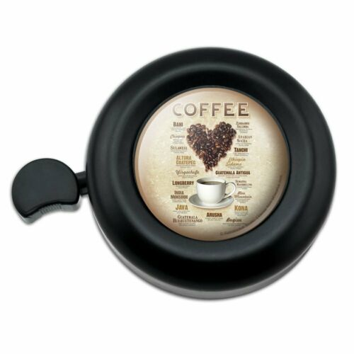 Coffee From Around the World Love Beans Bicycle Handlebar Bike Bell