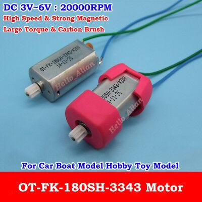 DC 3V 5V 6V 21000RPM High Speed Mini FK-180SH Motor Copper Gear DIY Toy Car Boat