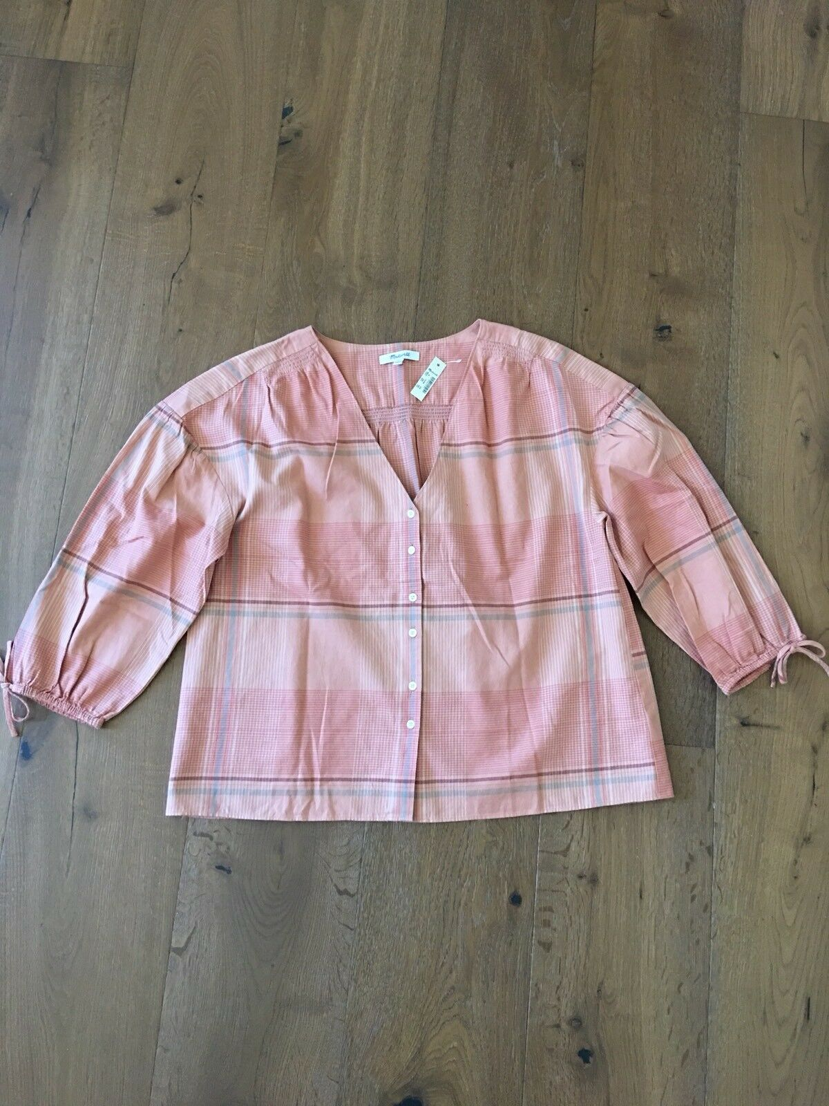 Authentic  MADEWELL Blouse Top Größe Medium NWT