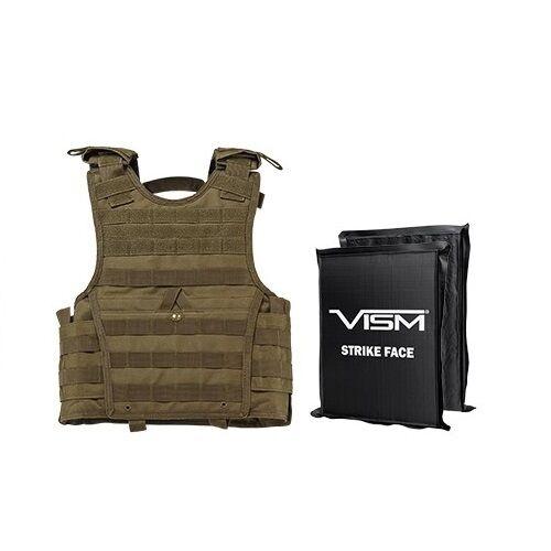 VISM BSCVPCVXC2963T IIIA BODY ARMOR EXPERT XS-SM BALLISTIC PLATE CARRIER 8X10