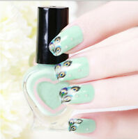 DIY Charm Water Transfers Peacock Feather nail Wraps Nail Art Stickers Decals