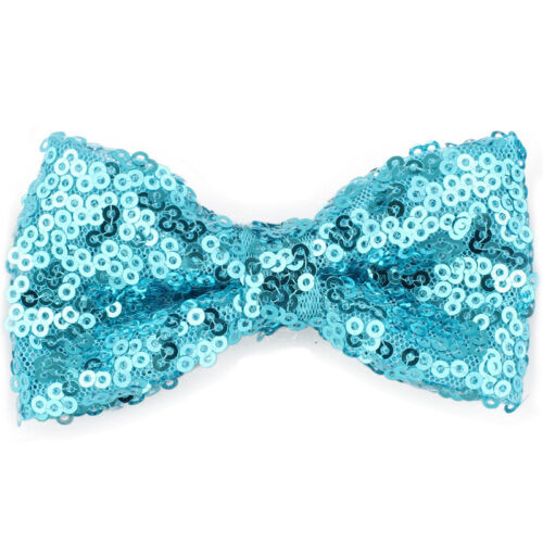 Lovely Baby Bling Sparkly Sequin Bow Hair Accessories Clips for Party Girls Kids