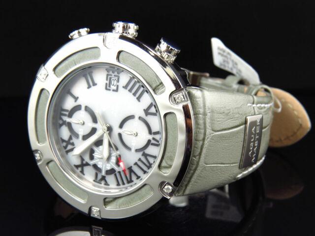 mens aqua master el russo w 346 grey stainless steel genuine diamond watch 20ct for sale online ebay ebay