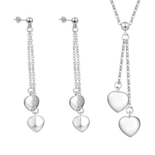 2018 Women Silver Filled Heart Animal Leaf Earrings Necklace Jewelry Set+925B