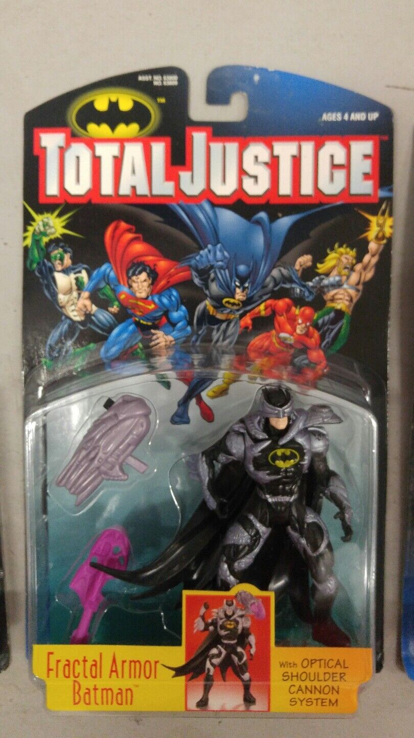 1997 Kenner Kenner Kenner DC Comics Batuomo Total Justice League Lot of 4 azione cifras ab4faf