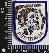 VINTAGE AUSTRALIA ABORIGINE EMBROIDERED SOUVENIR PATCH WOVEN CLOTH SEW-ON BADGE
