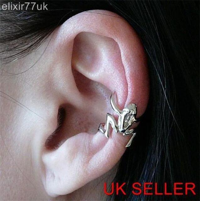 UK HOT HOPPING FROG CARTILAGE UPPER HELIX EAR CUFF CLIP-ON EAR-WRAP EMO EARRING