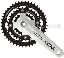 Suntour XCM Chainset Crankset MTB Bicycle Bike White 22/32/44T 9s 27s 9 speed