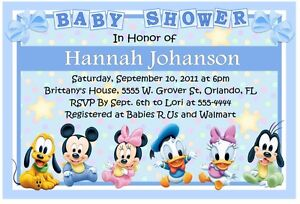 Image Is Loading Baby Mickey Disney Babies Shower Invitations