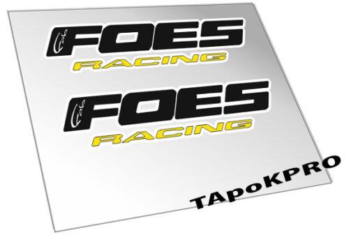 Brand New Custom Foes logo frame glossy lamination stickers decals